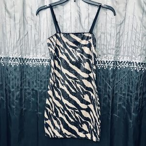 FOREVER21 Night Out Animal Print Dress